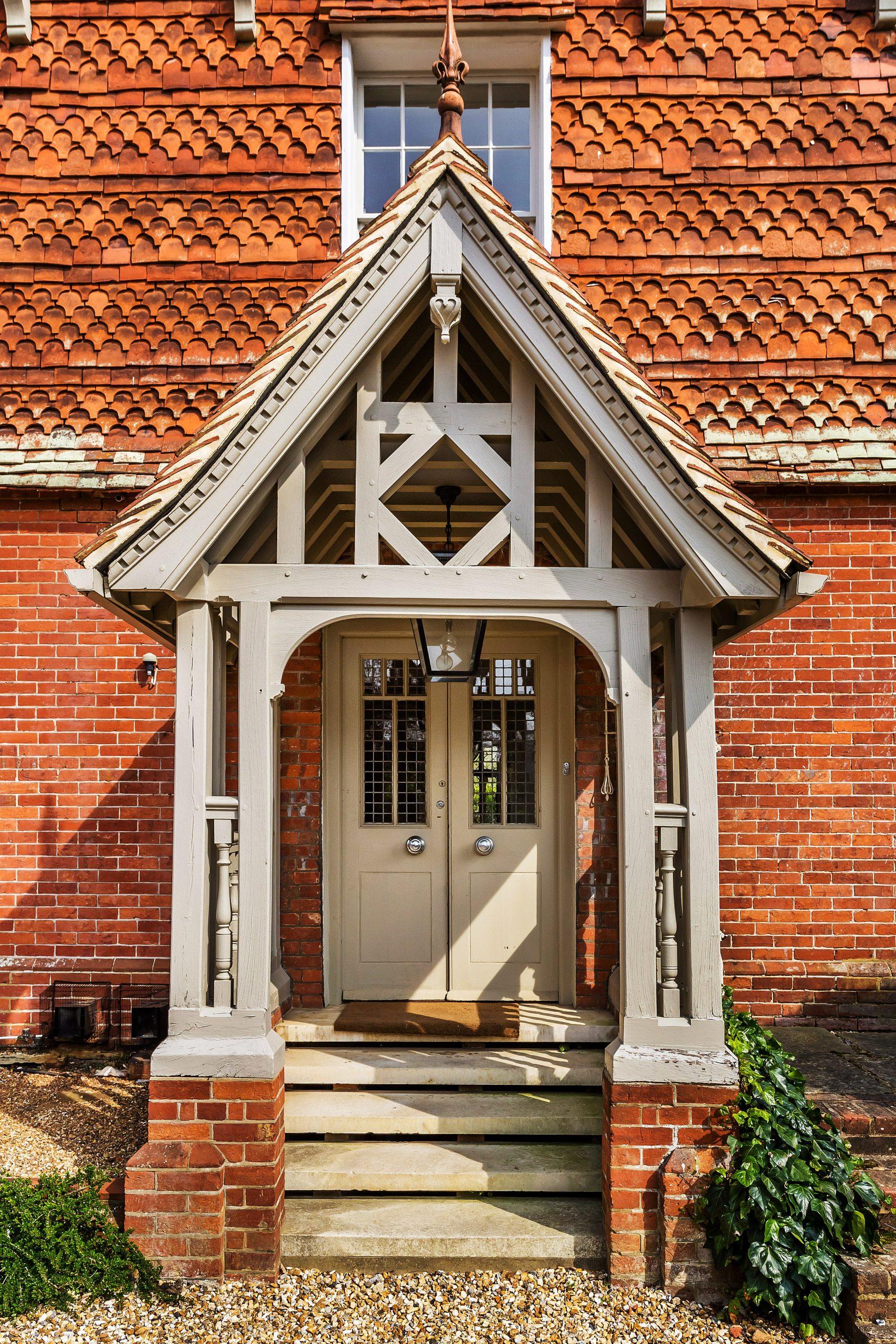 Beautiful Home with Cream Double Doors
