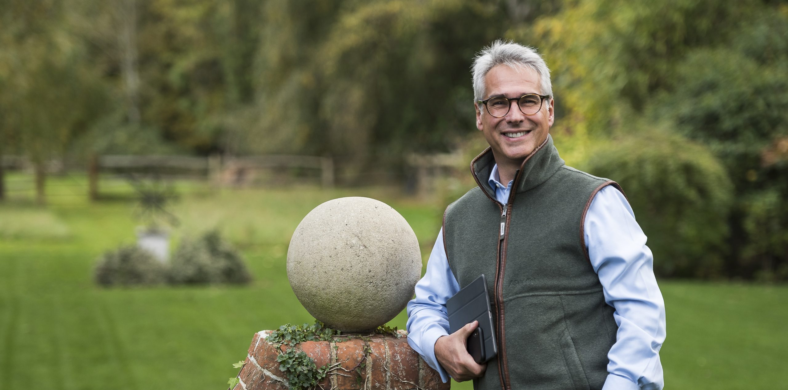Michael Oury in Garden