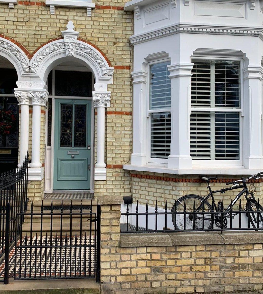 Teal Front Door in London