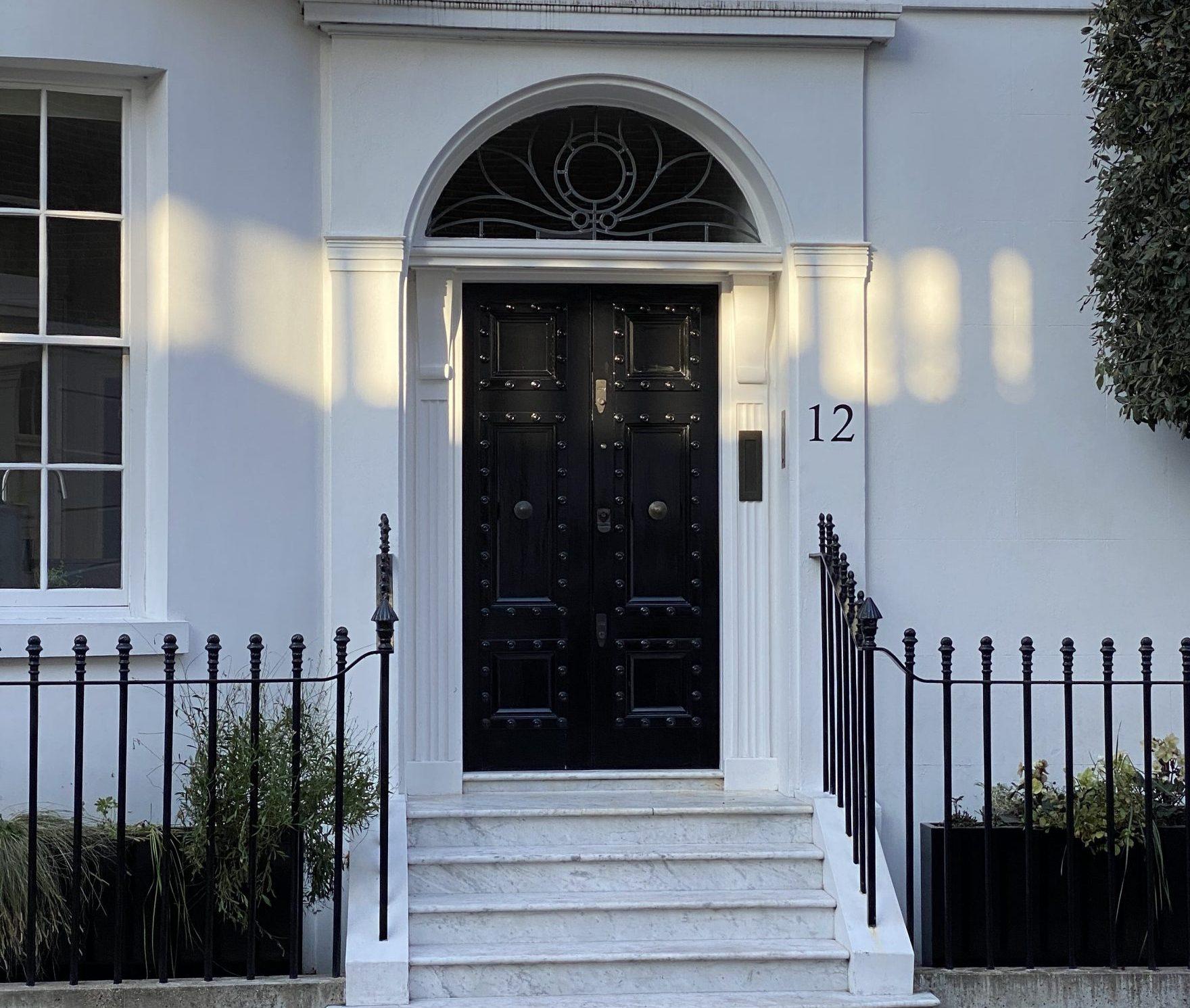 12 Alexander Square Black Front Door